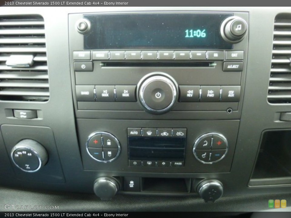 Ebony Interior Controls for the 2013 Chevrolet Silverado 1500 LT Extended Cab 4x4 #77523146