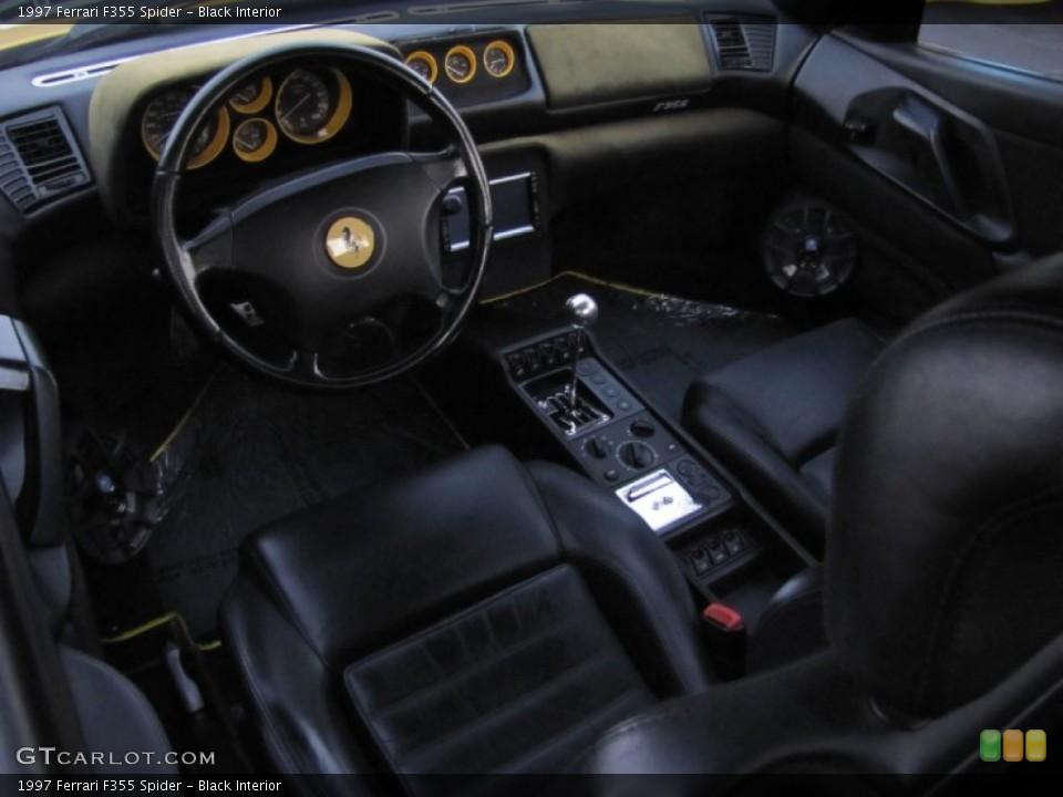 Black 1997 Ferrari F355 Interiors