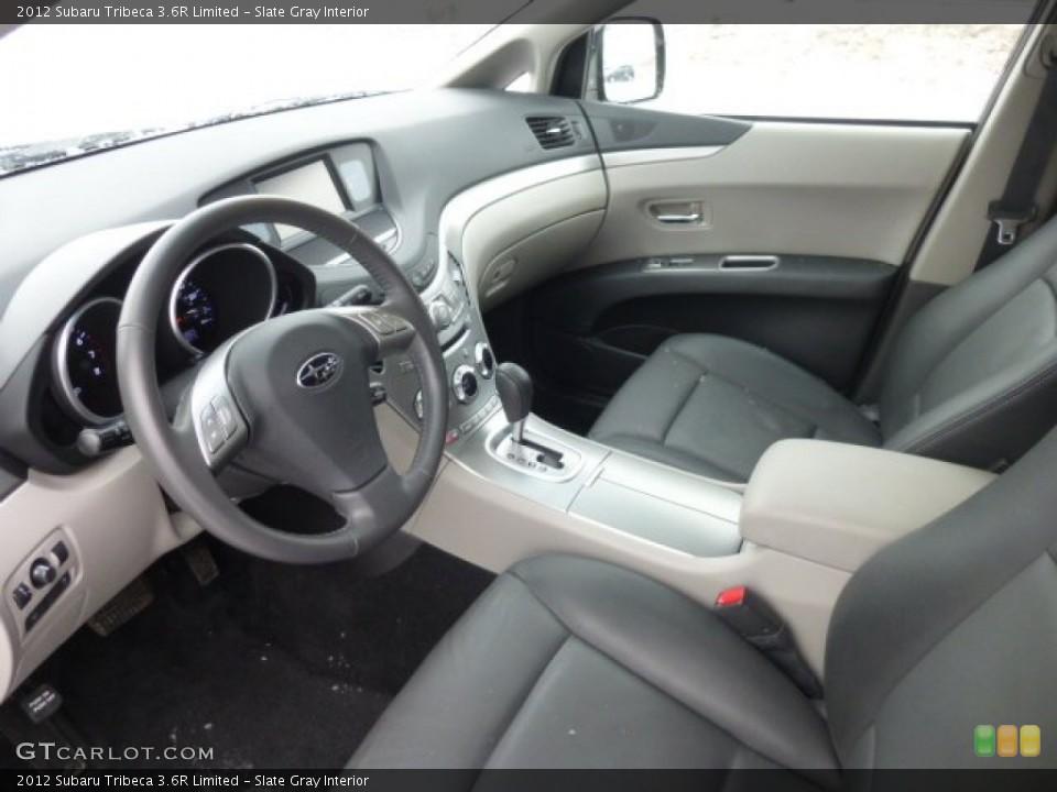 Slate Gray 2012 Subaru Tribeca Interiors