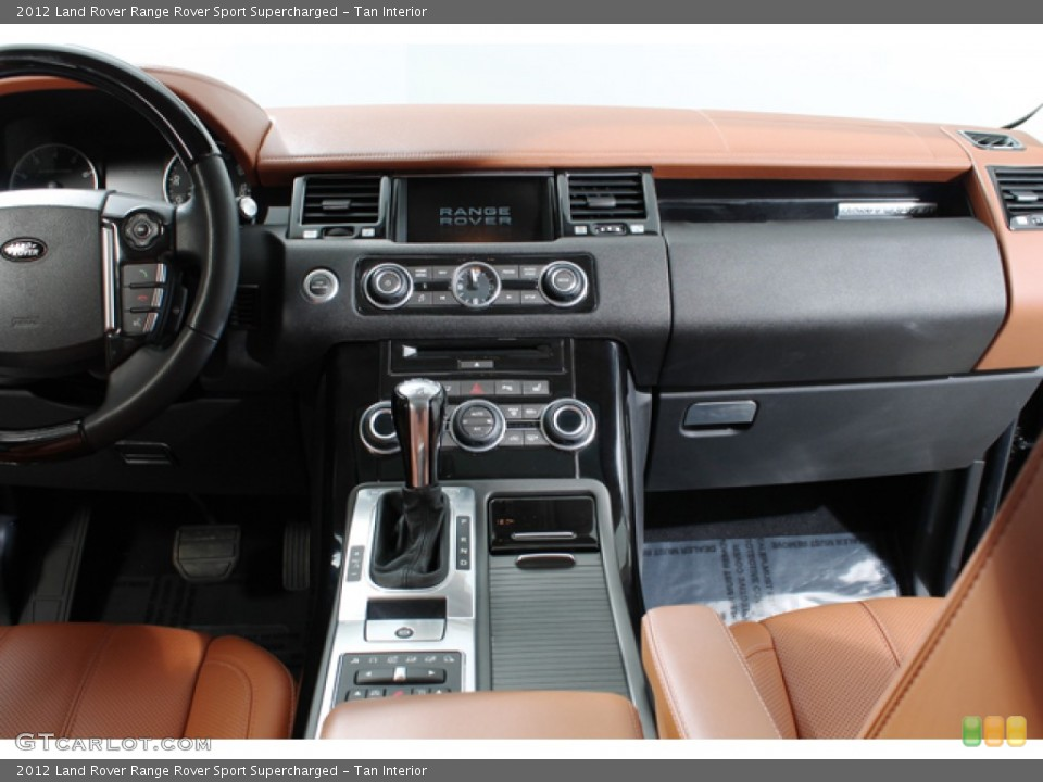 Tan Interior Controls for the 2012 Land Rover Range Rover Sport