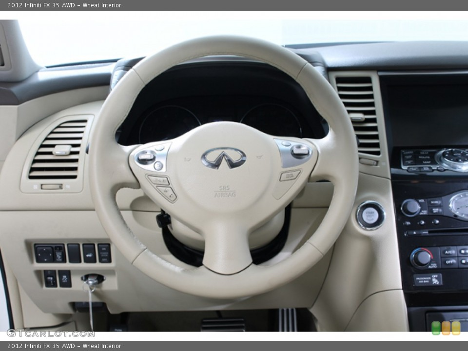 Wheat Interior Steering Wheel for the 2012 Infiniti FX 35 AWD #77586700
