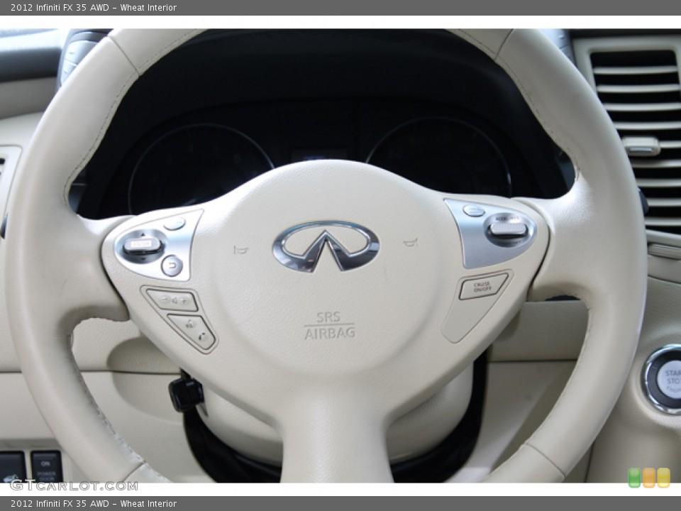 Wheat Interior Controls for the 2012 Infiniti FX 35 AWD #77586714