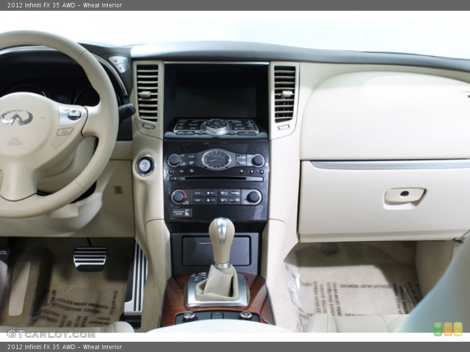 Wheat Interior Controls for the 2012 Infiniti FX 35 AWD #77586732