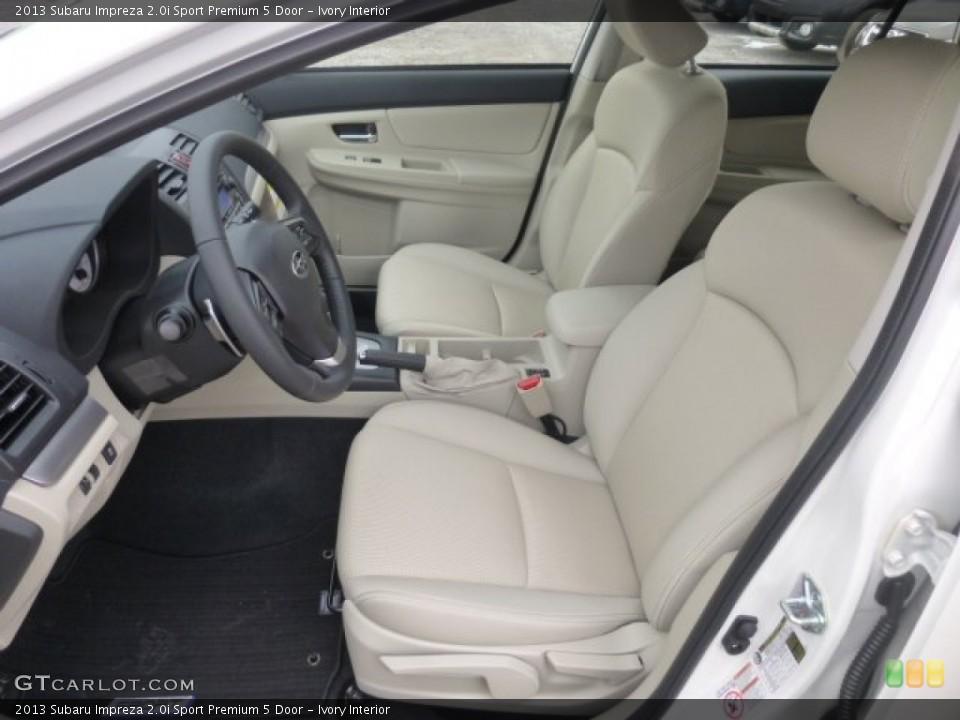 Ivory Interior Front Seat for the 2013 Subaru Impreza 2.0i Sport Premium 5 Door #77592663