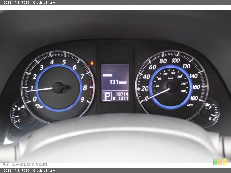Graphite Interior Gauges for the 2012 Infiniti FX 35 #77600907