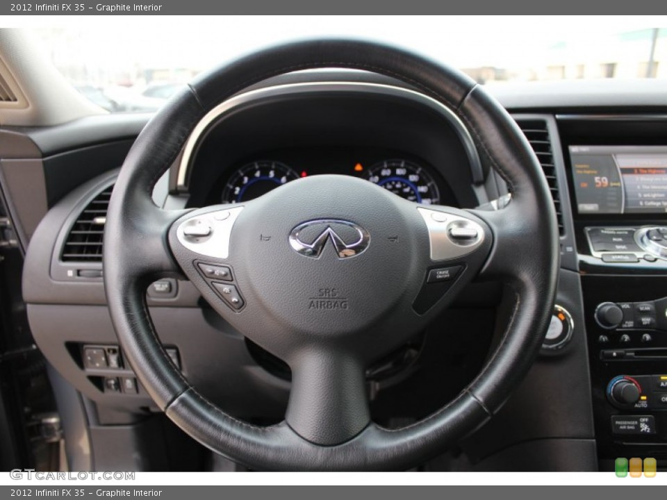 Graphite Interior Steering Wheel for the 2012 Infiniti FX 35 #77600929