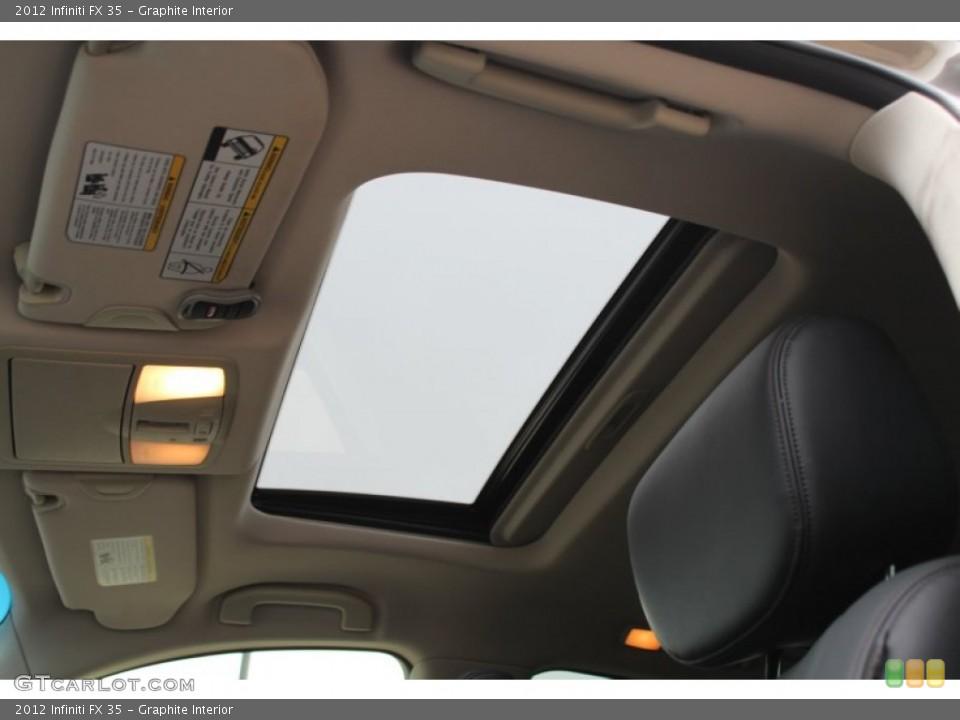 Graphite Interior Sunroof for the 2012 Infiniti FX 35 #77601153