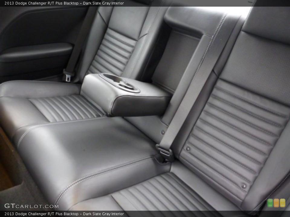 Dark Slate Gray Interior Rear Seat for the 2013 Dodge Challenger R/T Plus Blacktop #77623304