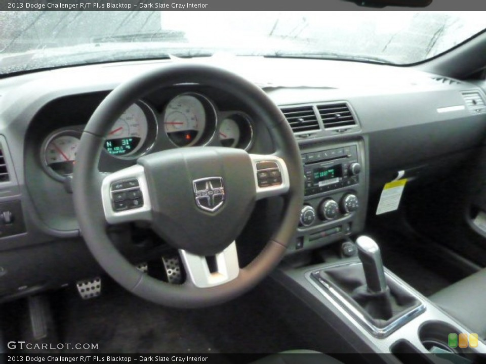 Dark Slate Gray Interior Dashboard for the 2013 Dodge Challenger R/T Plus Blacktop #77623315
