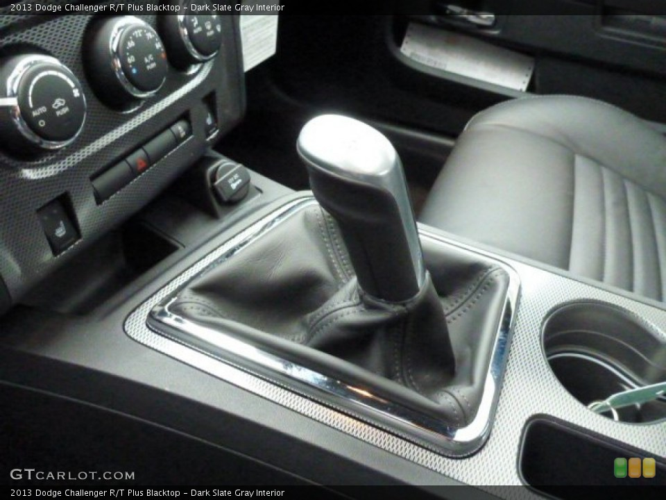 Dark Slate Gray Interior Transmission for the 2013 Dodge Challenger R/T Plus Blacktop #77623396