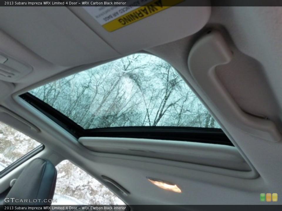WRX Carbon Black Interior Sunroof for the 2013 Subaru Impreza WRX Limited 4 Door #77631955