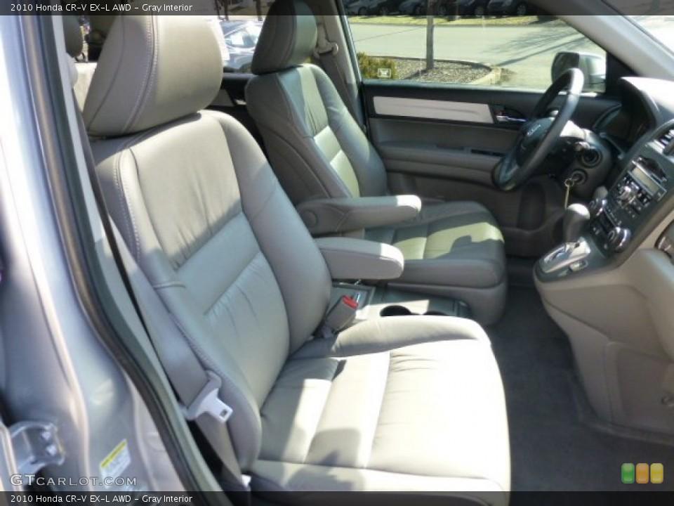 Gray Interior Photo for the 2010 Honda CR-V EX-L AWD #77657367