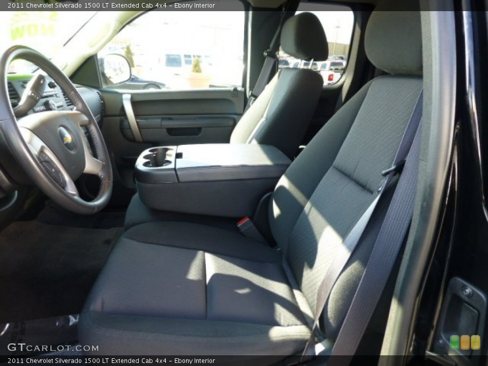 Ebony Interior Front Seat for the 2011 Chevrolet Silverado 1500 LT Extended Cab 4x4 #77659815