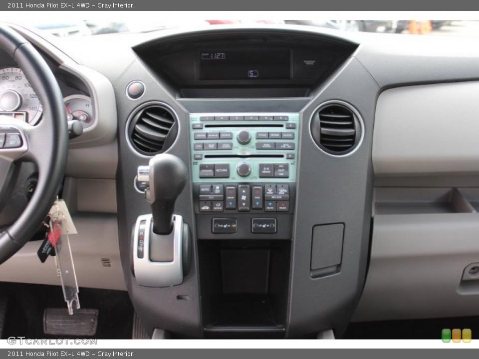 Gray Interior Controls for the 2011 Honda Pilot EX-L 4WD #77665788