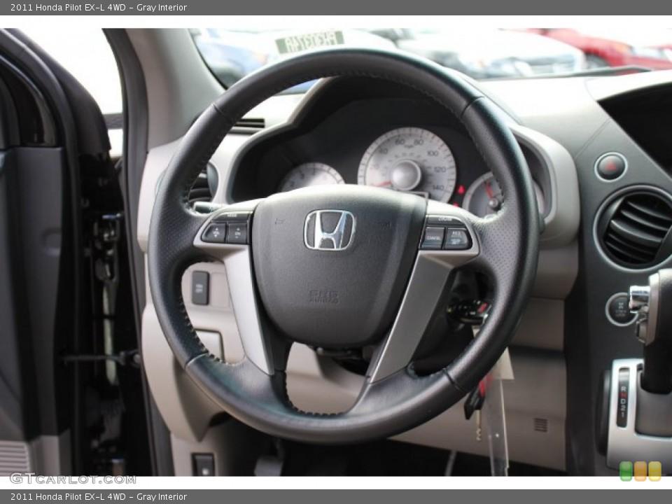 Gray Interior Steering Wheel for the 2011 Honda Pilot EX-L 4WD #77665806