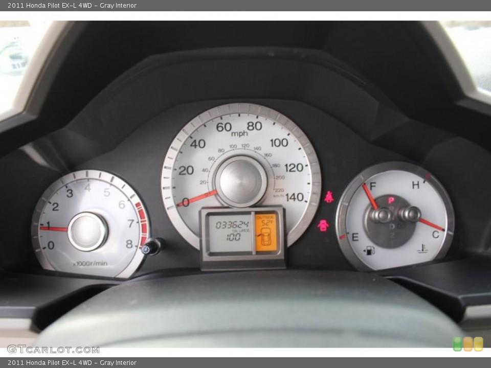 Gray Interior Gauges for the 2011 Honda Pilot EX-L 4WD #77665815