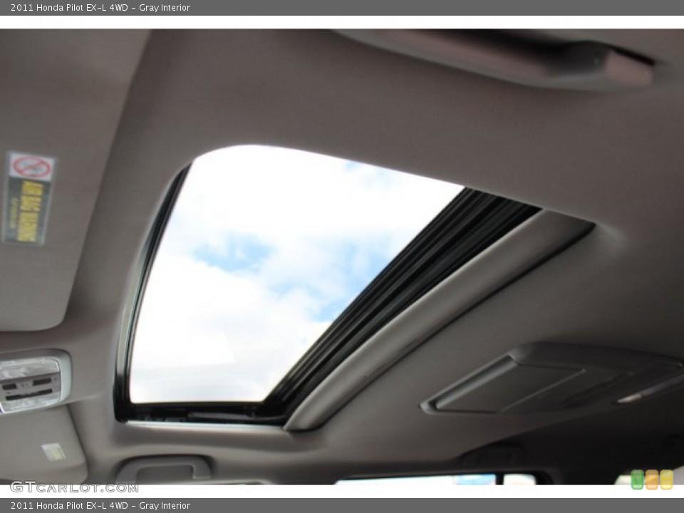 Gray Interior Sunroof for the 2011 Honda Pilot EX-L 4WD #77665827