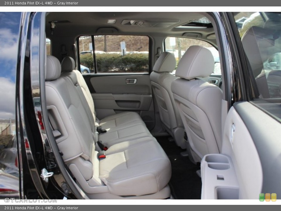 Gray Interior Rear Seat for the 2011 Honda Pilot EX-L 4WD #77665899