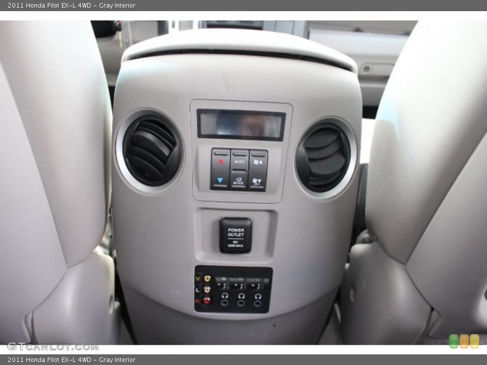 Gray Interior Controls for the 2011 Honda Pilot EX-L 4WD #77665926