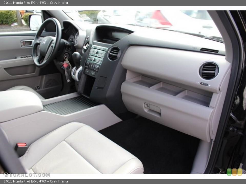 Gray Interior Dashboard for the 2011 Honda Pilot EX-L 4WD #77665963