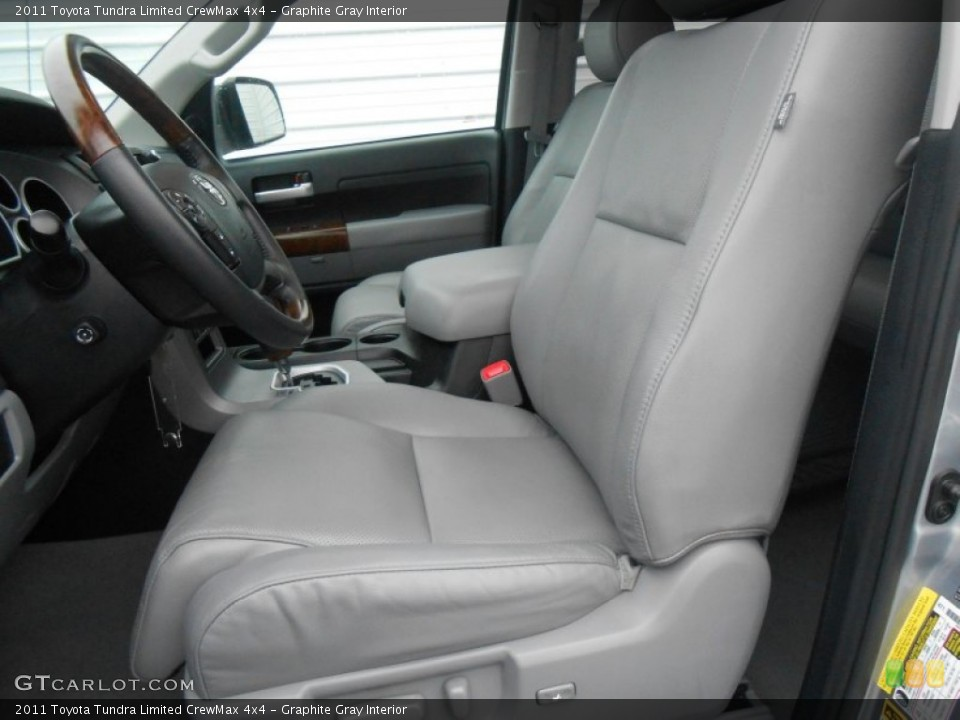 Graphite Gray Interior Front Seat for the 2011 Toyota Tundra Limited CrewMax 4x4 #77668869