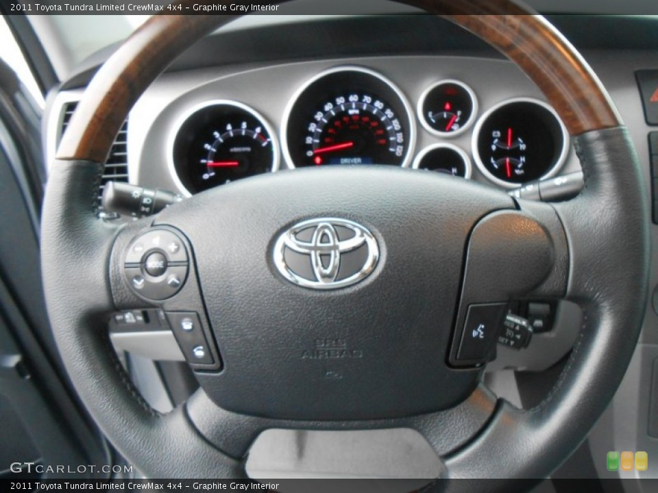 Graphite Gray Interior Steering Wheel for the 2011 Toyota Tundra Limited CrewMax 4x4 #77669059
