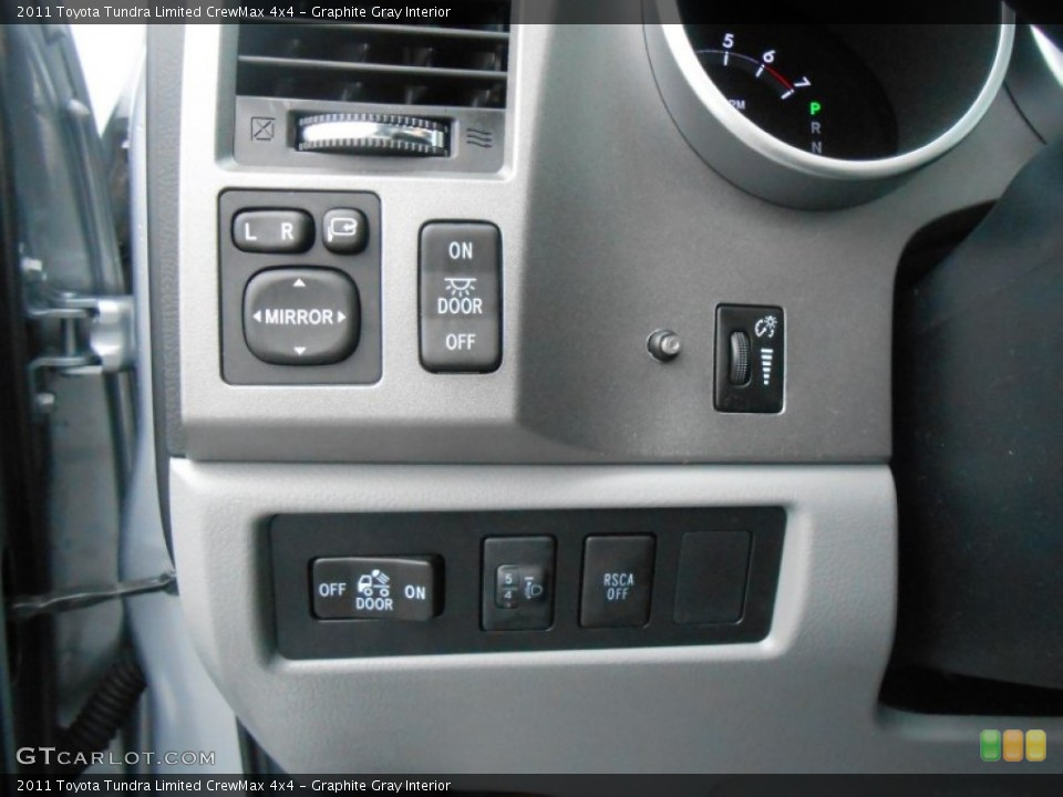 Graphite Gray Interior Controls for the 2011 Toyota Tundra Limited CrewMax 4x4 #77669112