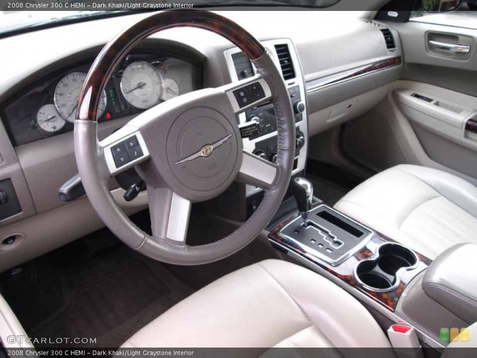 Dark Khaki/Light Graystone 2008 Chrysler 300 Interiors