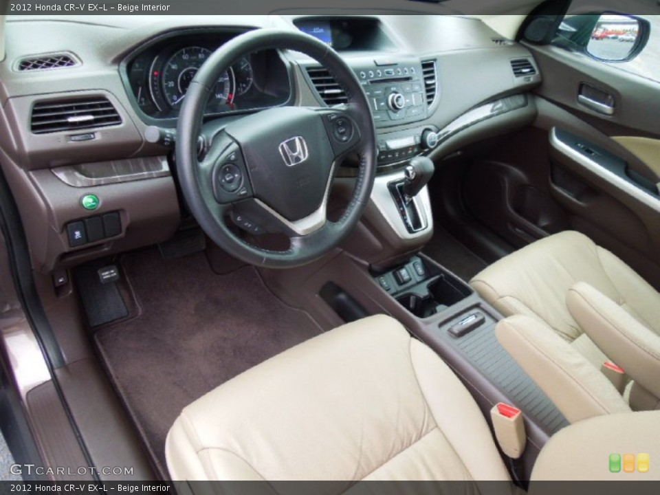 Beige 2012 Honda CR-V Interiors