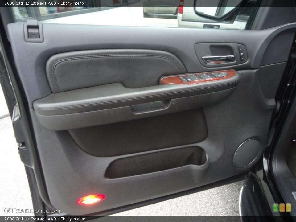 Ebony Interior Door Panel for the 2008 Cadillac Escalade AWD #77709041