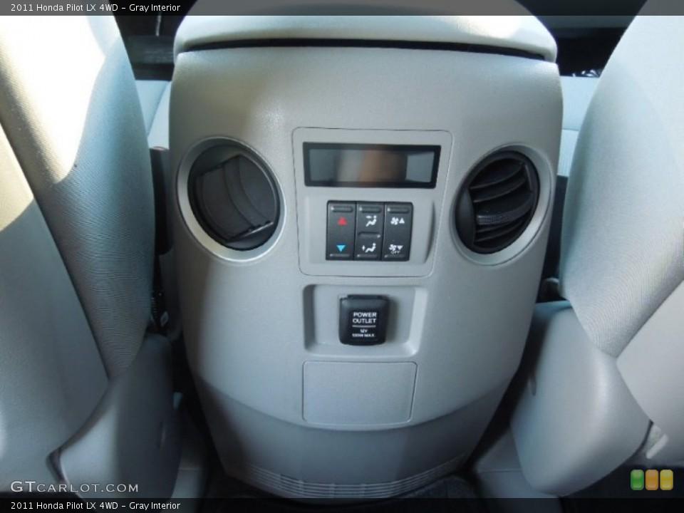 Gray Interior Controls for the 2011 Honda Pilot LX 4WD #77729055