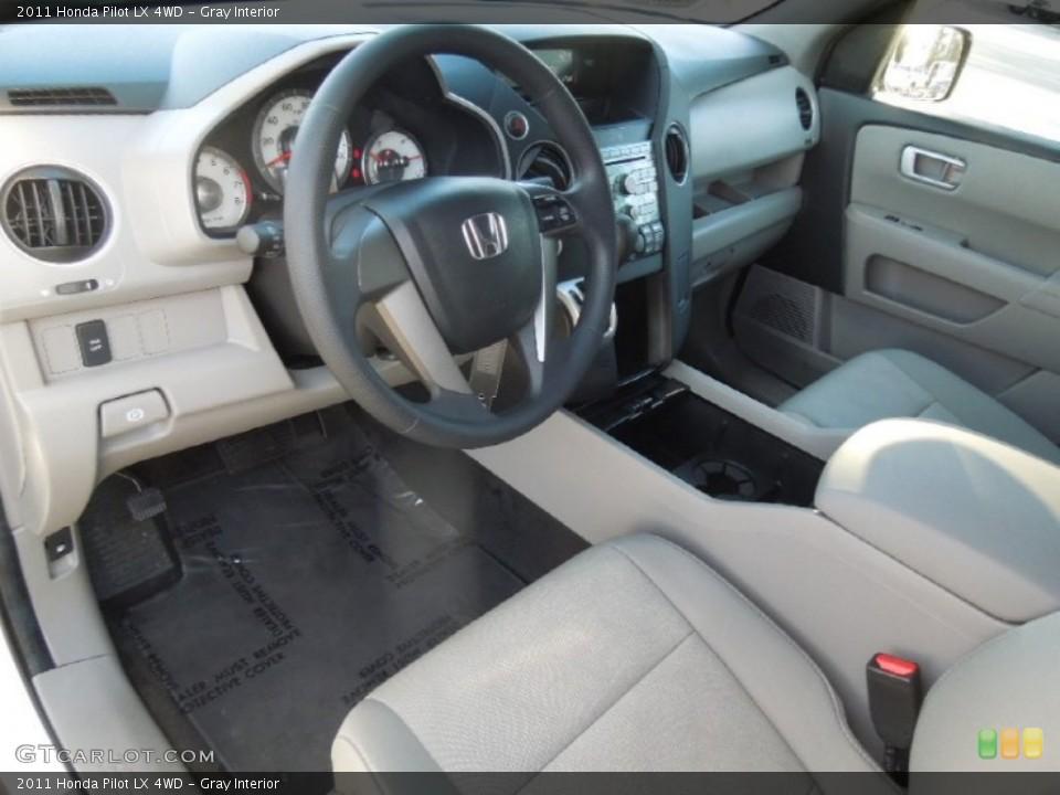 Gray Interior Prime Interior for the 2011 Honda Pilot LX 4WD #77729223