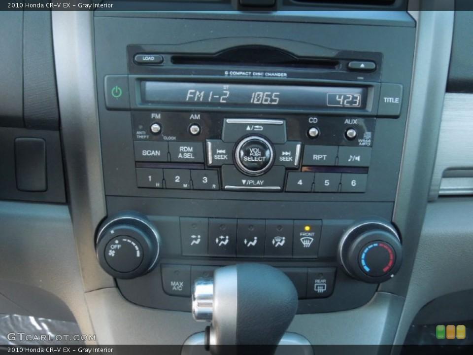 Gray Interior Controls for the 2010 Honda CR-V EX #77760316