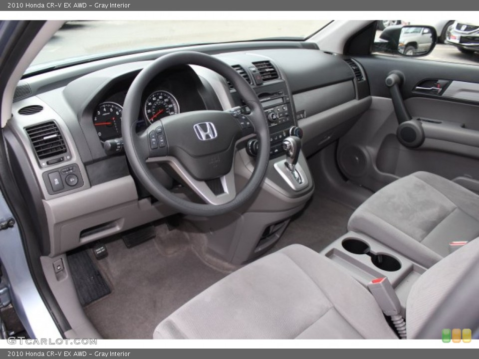 Gray Interior Prime Interior for the 2010 Honda CR-V EX AWD #77772616