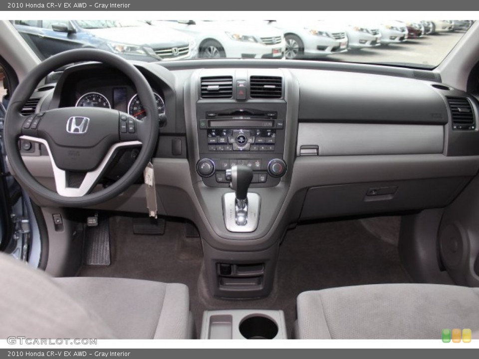 Gray Interior Dashboard for the 2010 Honda CR-V EX AWD #77772658