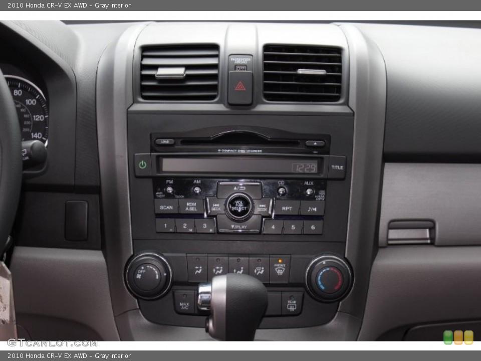 Gray Interior Controls for the 2010 Honda CR-V EX AWD #77772677