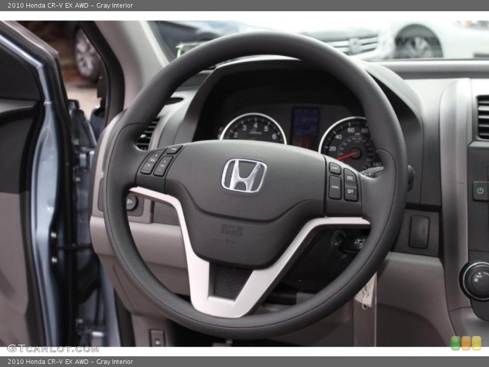 Gray Interior Steering Wheel for the 2010 Honda CR-V EX AWD #77772713