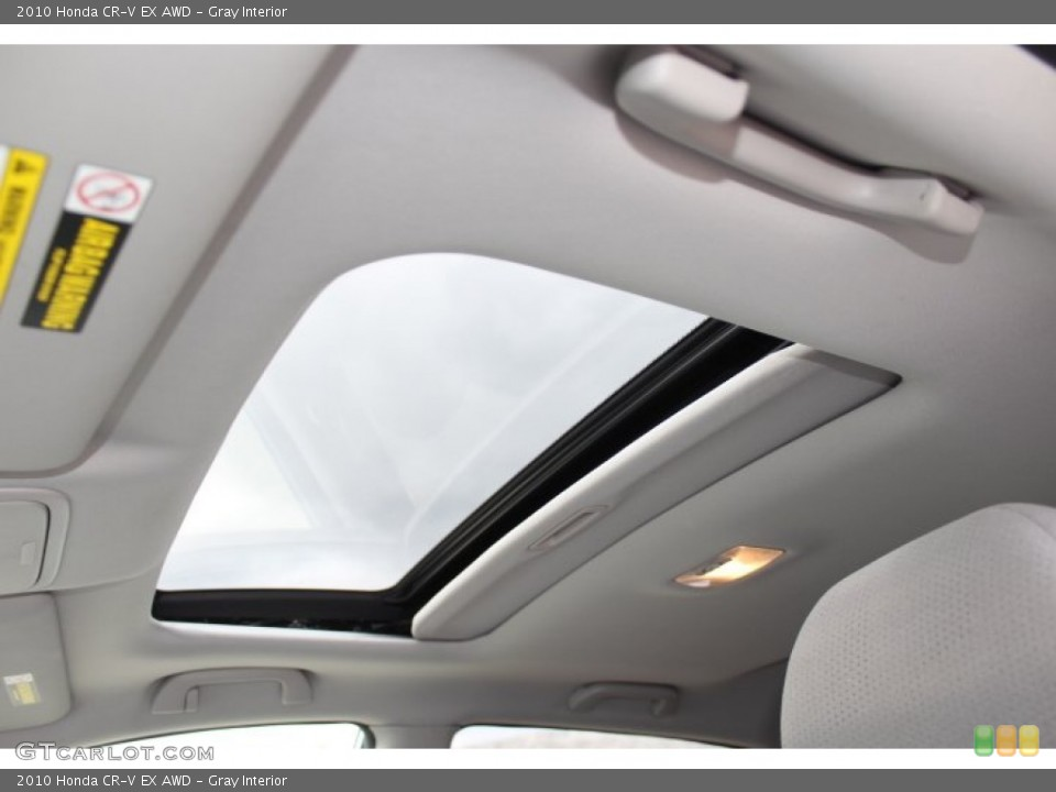 Gray Interior Sunroof for the 2010 Honda CR-V EX AWD #77772743