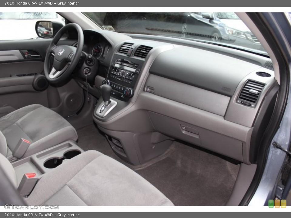Gray Interior Dashboard for the 2010 Honda CR-V EX AWD #77772860