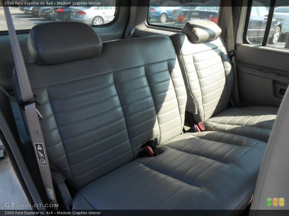 Medium Graphite Interior Rear Seat for the 2000 Ford Explorer XL 4x4 #77823960