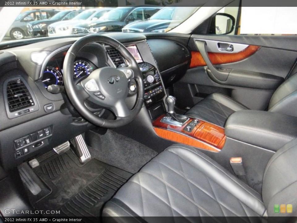 Graphite Interior Prime Interior for the 2012 Infiniti FX 35 AWD #77832486
