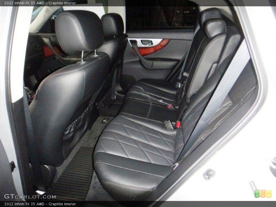 Graphite Interior Rear Seat for the 2012 Infiniti FX 35 AWD #77832555