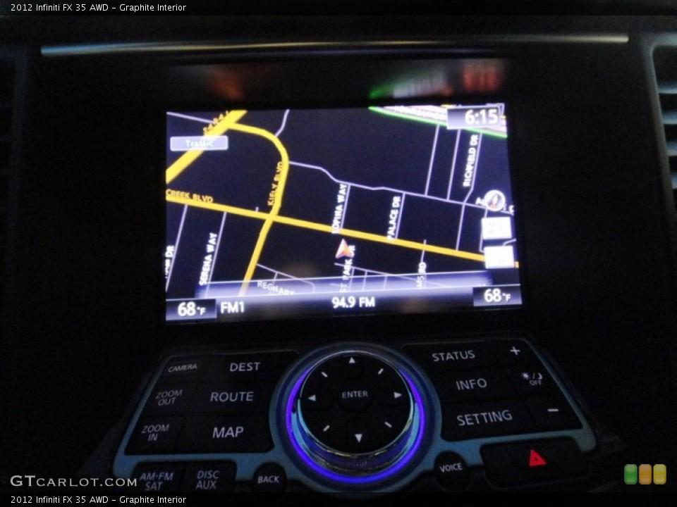 Graphite Interior Navigation for the 2012 Infiniti FX 35 AWD #77832765