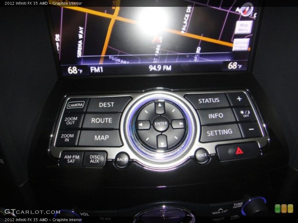 Graphite Interior Controls for the 2012 Infiniti FX 35 AWD #77832874