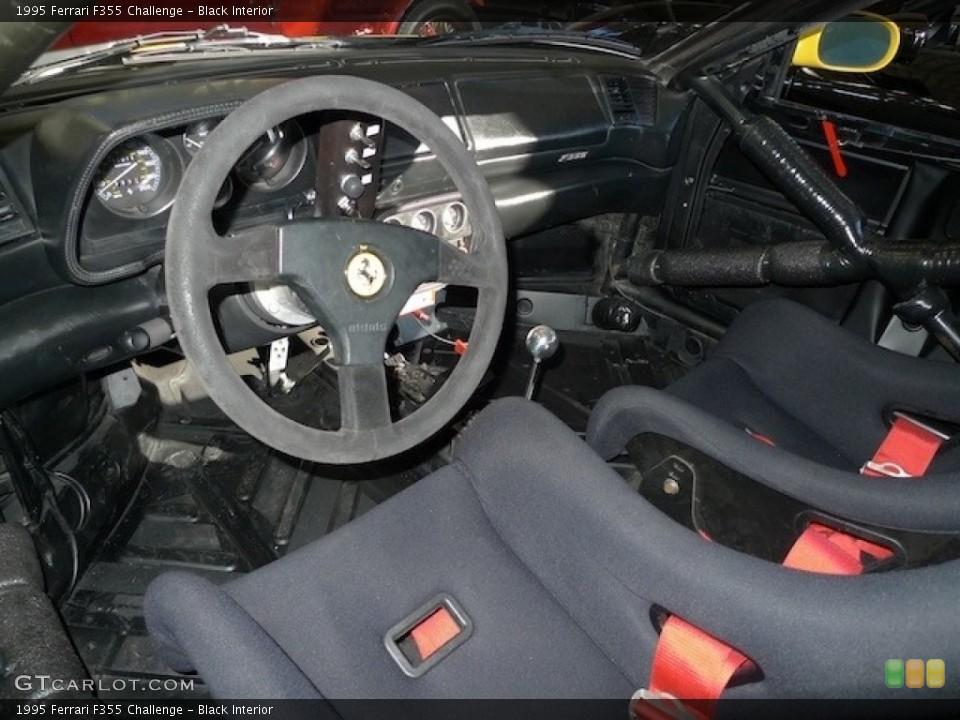 Black 1995 Ferrari F355 Interiors