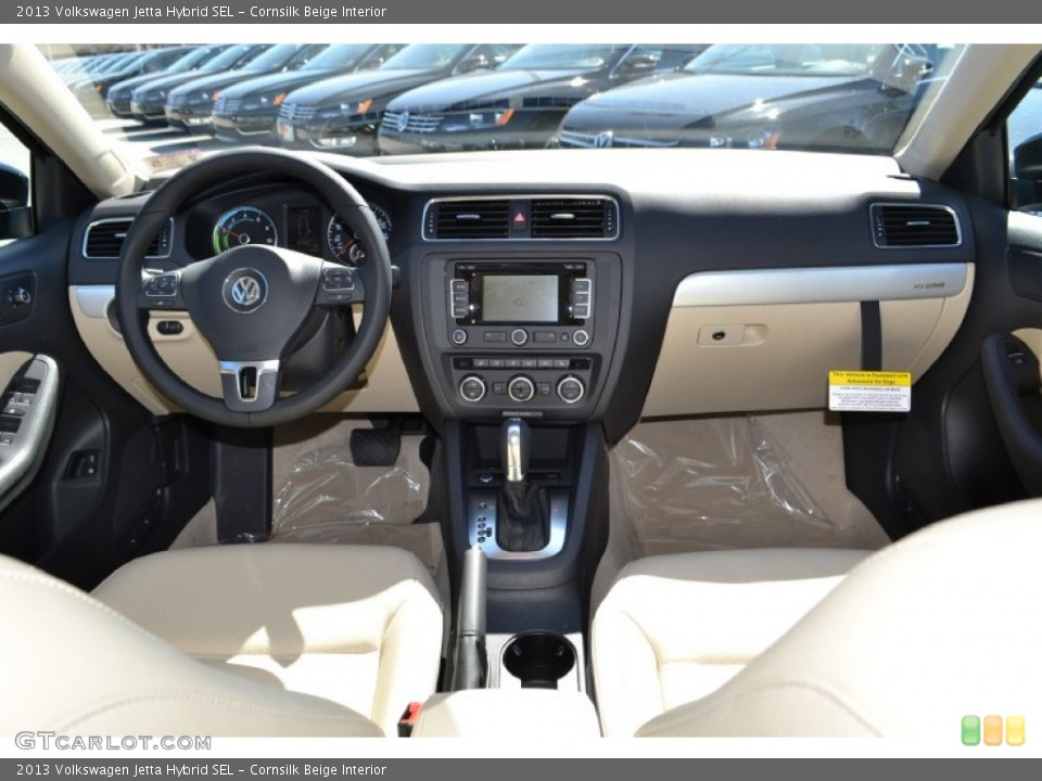 Cornsilk Beige Interior Dashboard for the 2013 Volkswagen Jetta Hybrid ...