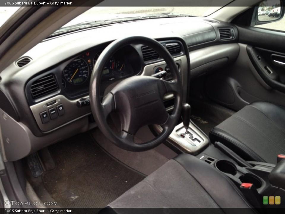 Gray 2006 Subaru Baja Interiors