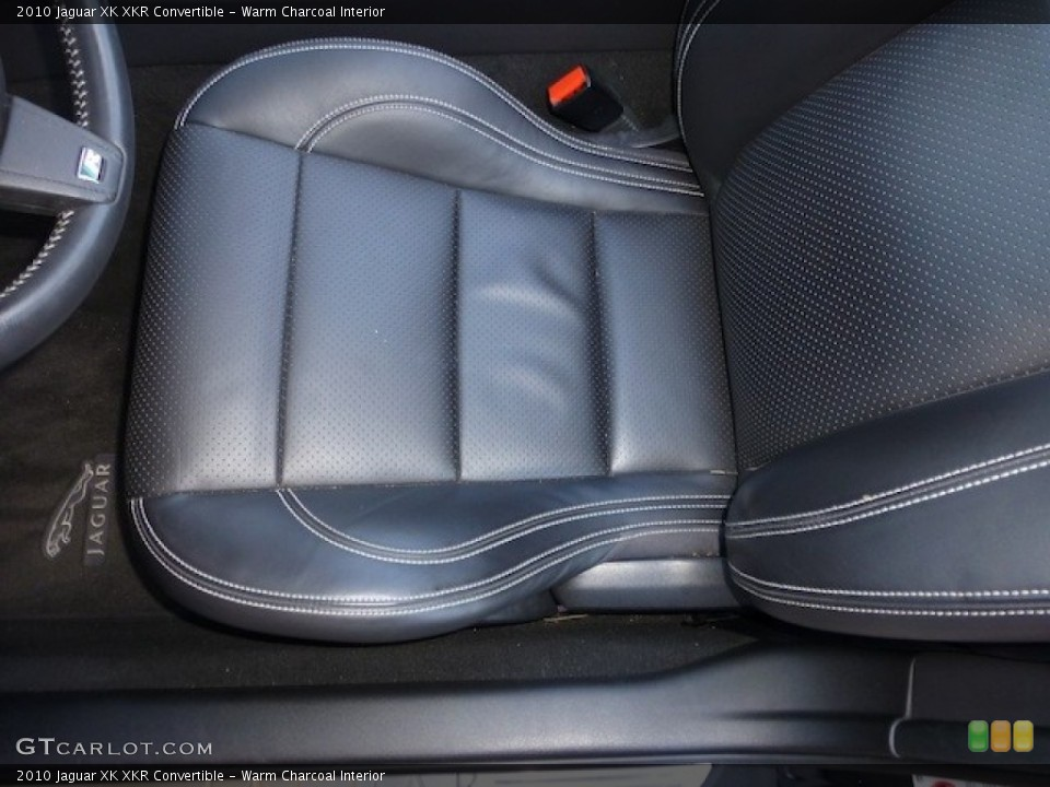 Warm Charcoal Interior Front Seat for the 2010 Jaguar XK XKR Convertible #77860391