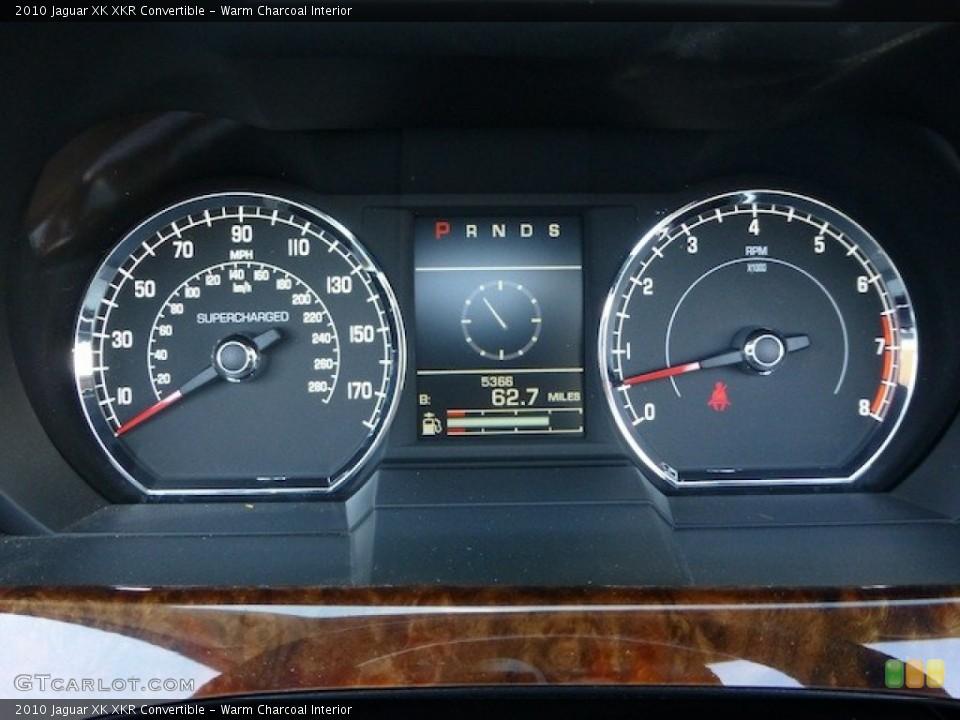Warm Charcoal Interior Gauges for the 2010 Jaguar XK XKR Convertible #77860515