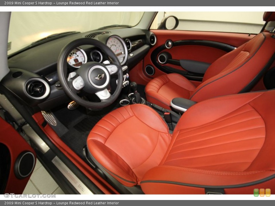 Lounge Redwood Red Leather 2009 Mini Cooper Interiors